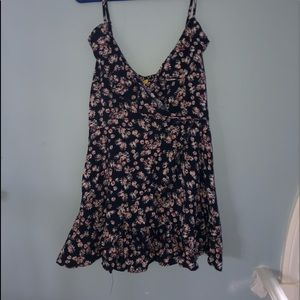 Floral Flounce/Wrap Dress